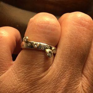 Tiffany & Co. Jewelry - Platinum band with bezel diamonds